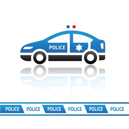 Police car Stock Vector - 15913425