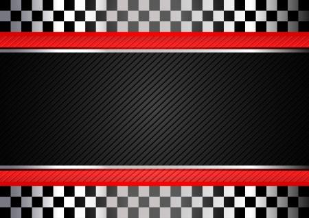 d�part course: Racing noir ray� de fond