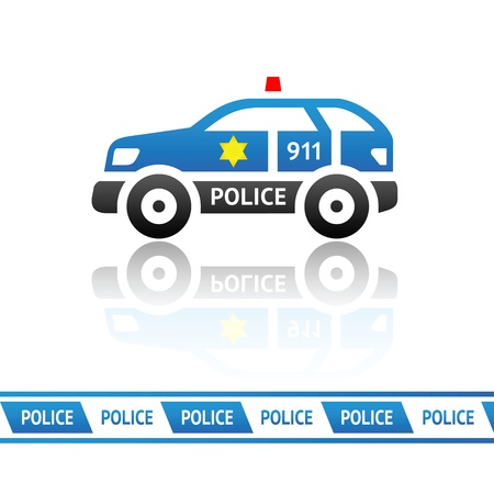 Sheriff s patrol car Illustration