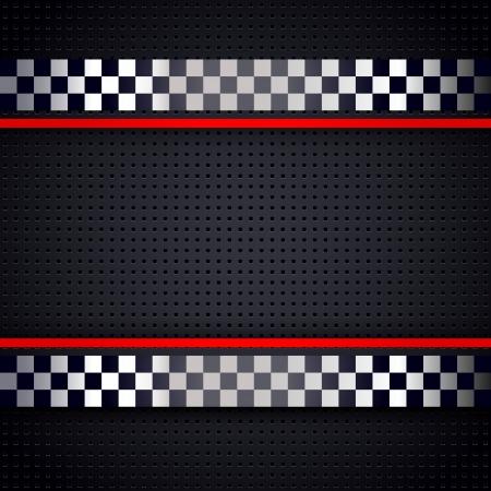 d�part course: M�tallique perfor�e structur� pour arri�re-plan de feuille de course