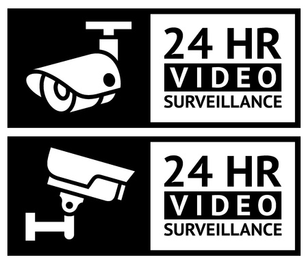 video surveillance: Video surveillance stickers set
