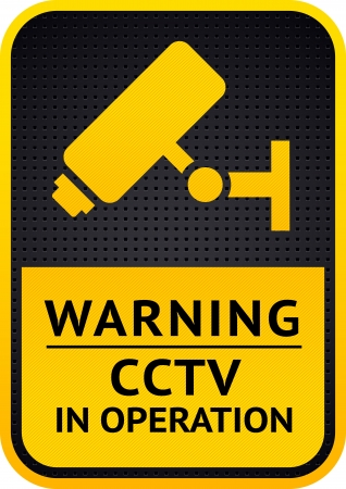 Video surveillance sticker  Vector