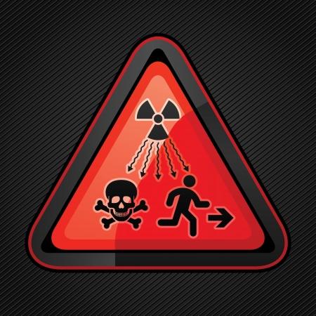 desechos toxicos: Nuevo símbolo Lanzado a avisar al público sobre los peligros de la radiación Vectores