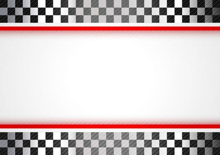 d�part course: Course fond rouge