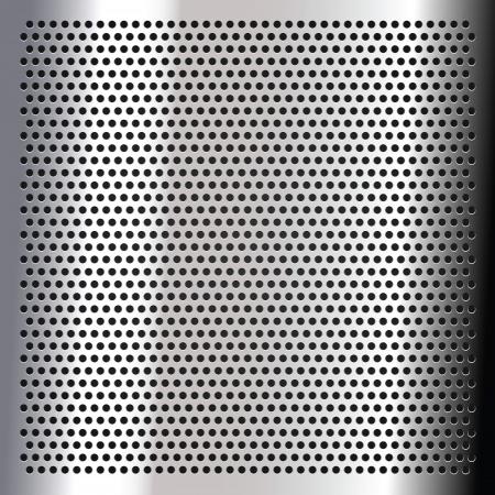 metal grate: Chrome - sheet metallic Illustration