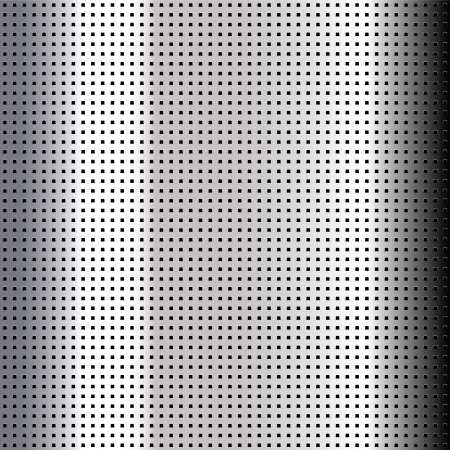 Metallic perforated chromium sheet Vector