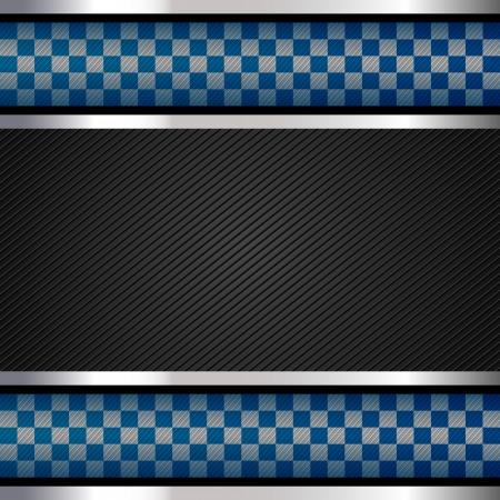 metalic design: Police backdrop, striped surface