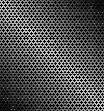 Abstract perforated metallic dark background Vector