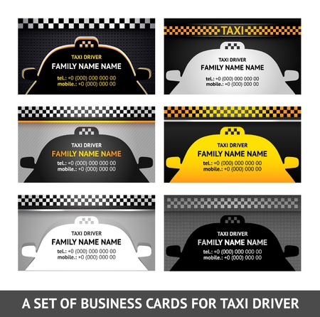 new york taxi: Business card taxi - fifth set