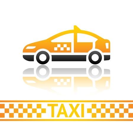 fare: Taxi cab icon Illustration