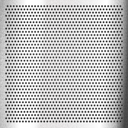 perforation: Chromium - scratched sheet metallic Illustration