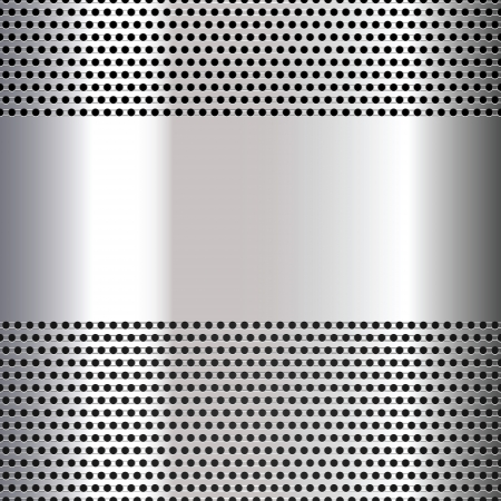 Gray background perforated sheet Stock Vector - 16432518