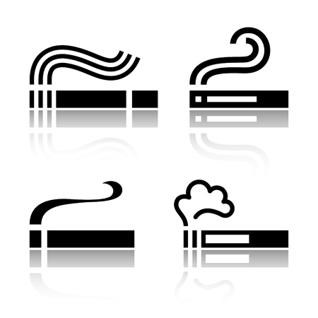 cigarette smoke: Set of Cigarettes