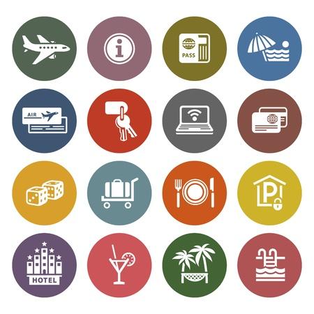 tourismus icon: Freizeit, Reisen Illustration