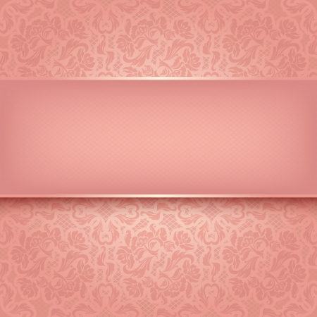 Decorative pink ornament Stock Vector - 16809043