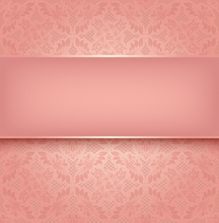 vintage background pattern: Lace pink