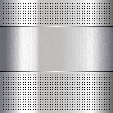 Metallic perforated chromium steel sheet, 10eps Stock Vector - 16809004