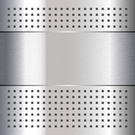 Scratched, on chrome metal background Vector