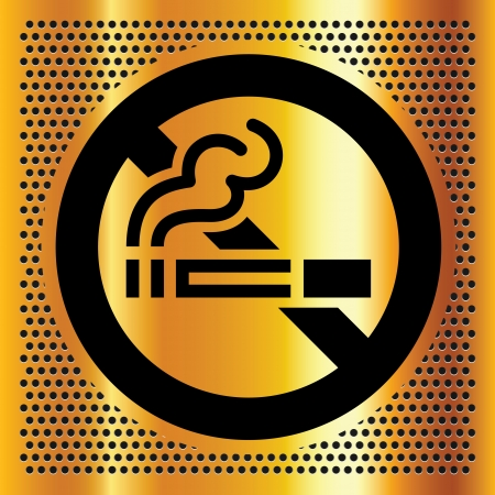 chromium sheet: No smoking symbol on a gold backdrop