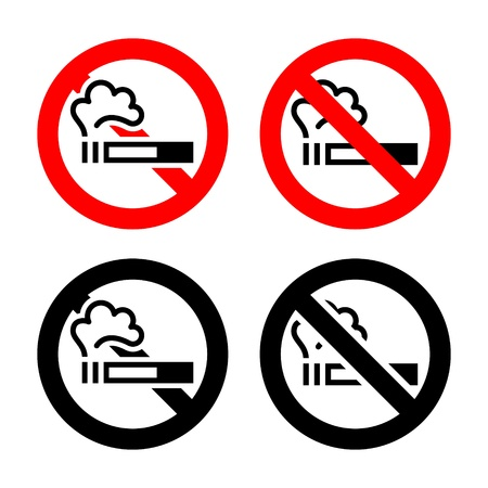 No smoking signs Stock Vector - 17115863