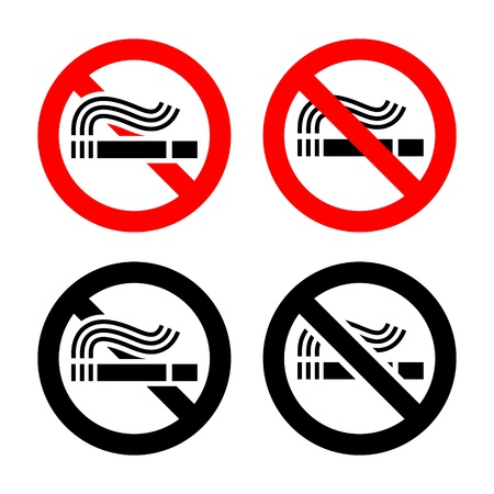 No smoking symbols set Stock Vector - 17115864