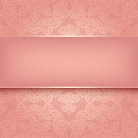 Pink ornament Stock Vector - 17115939
