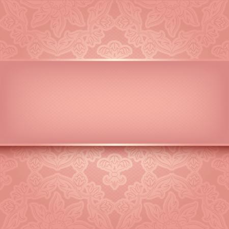 Pink ornament Stock Vector - 17115939