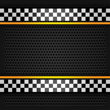 chequered ribbon: Metallic perforated sheet