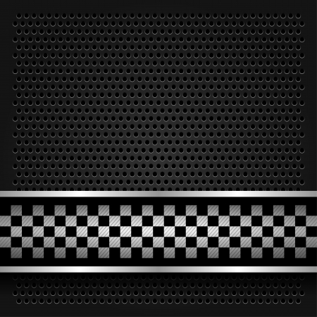 Metallic perforated sheet for race Stock Vector - 17115935