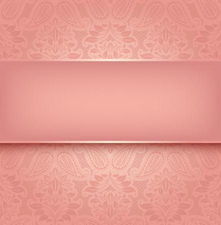 10eps: Decorative pink template - Vector illustration 10eps