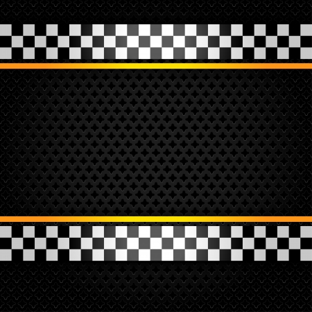 formula one: Metallic perforated sheet