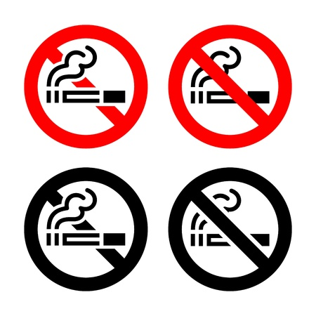 Signs set - No smoking Vector