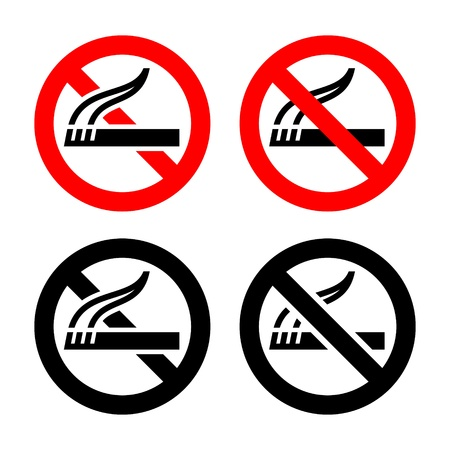 Set symbols - No smoking Stock Vector - 17311133