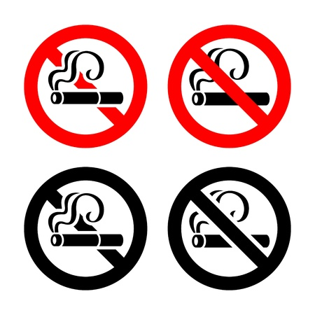 Set signs - No smoking Stock Vector - 17311124