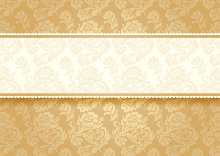 Gold flower on background Vector