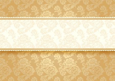 Gold flower on background Stock Vector - 17505111