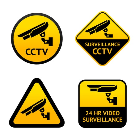 Video surveillance, set symbols Vector