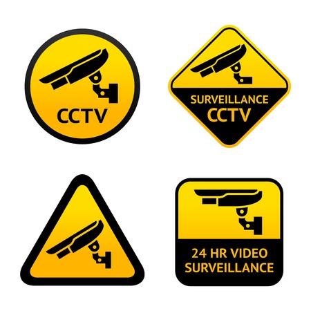 Video surveillance, set symbols Illustration