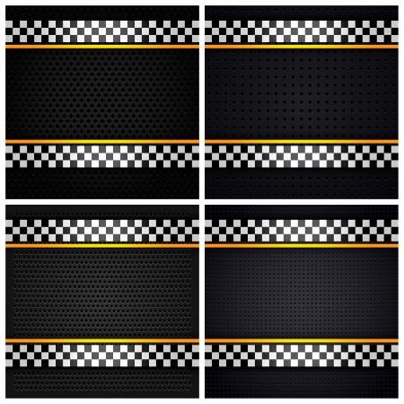 Metallic perforated sheets Stock Vector - 17696608