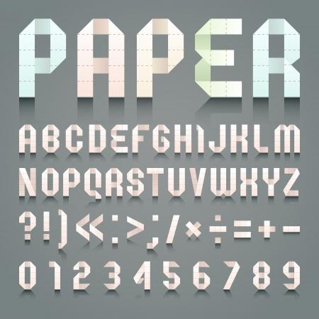 roman alphabet: Alphabet folded of toilet pink paper