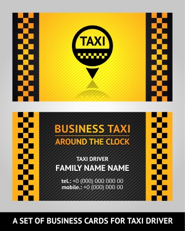Business cards taxi driver Vector