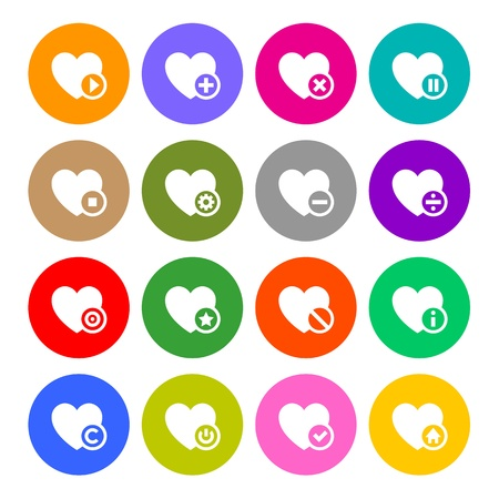 Icons set - hearts Stock Vector - 17696767