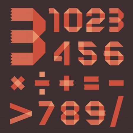 vellum: Font from reddish  Arabic numerals