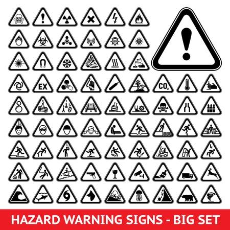 warnem      ¼nde: Triangular Warning Gefahrensymbole Big set
