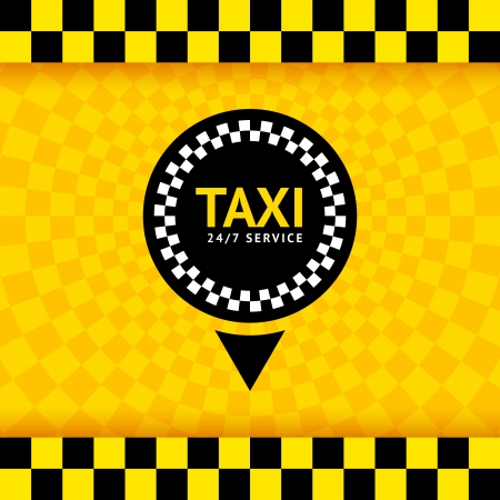 Taxi symbol, new background, vector illustration  Vector