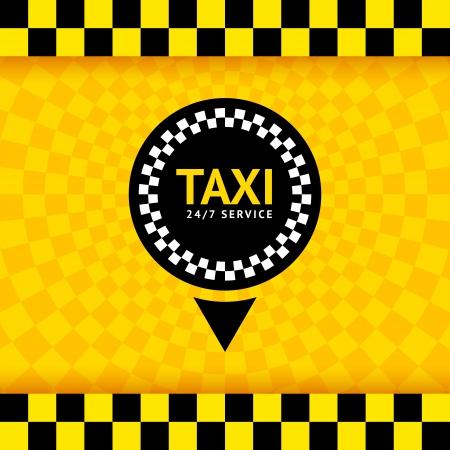 Taxi symbool, nieuwe achtergrond, vector illustratie