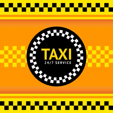 Taxi symbol, vector illustration Vector