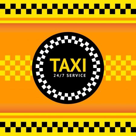 black cab: Taxi symbol, vector illustration Illustration
