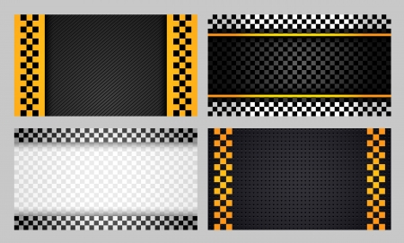 chequered: Business cards taxi set new Illustration
