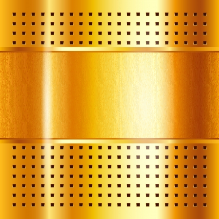 Gold template, metallic background